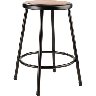 "NPS 24"" Heavy Duty Steel Stool, Black"