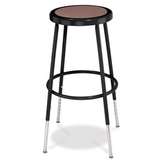 National Public Seating Adjustable-height Black Round Seat Stool