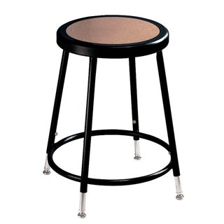 National Public Seating Black Adjustable Height Round Seat Stool