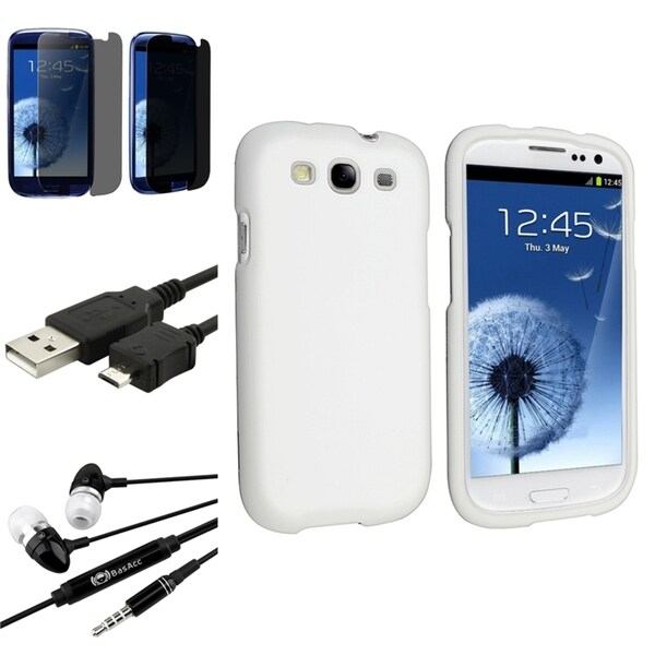 BasAcc Case/ Screen Protector/ Headset/ Cable for Samsung Galaxy S3