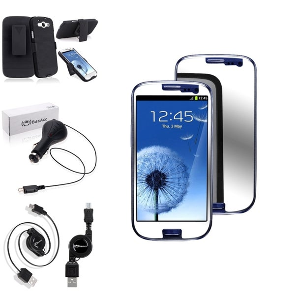 INSTEN Phone Case Cover/ Screen Protector/ Charger for Samsung Galaxy S3