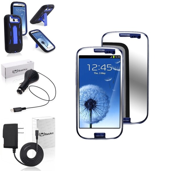INSTEN Case Cover/ Screen Protector/ Chargers for Samsung Galaxy S3
