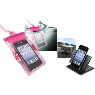 INSTEN Waterproof Phone Case Cover/ Car Dashboard Holder for HTC EVO 3D