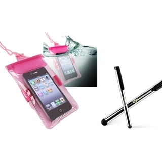 INSTEN Waterproof Phone Case Cover/ Stylus for HTC EVO 4G/ Droid Incredible 2