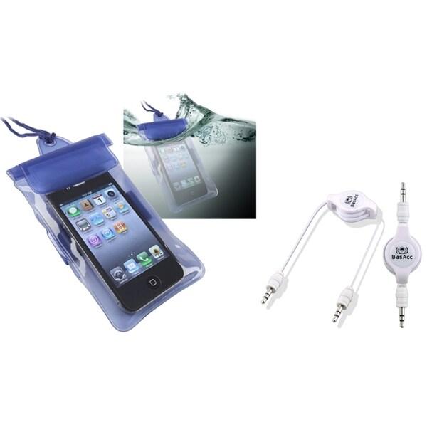INSTEN Waterproof Case Cover/ Cable for Motorola Droid Razr XT912/ XT910