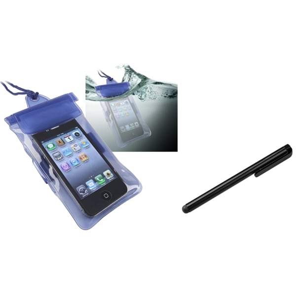 INSTEN Blue Waterproof Phone Case Cover/ Stylus for Motorola Photon 4G