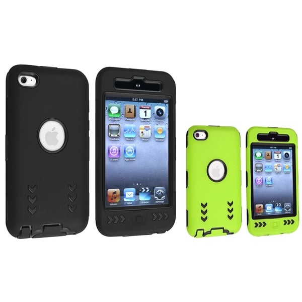 BasAcc Hybrid Case for Apple iPod Touch Generation 4 (Pack of 2)