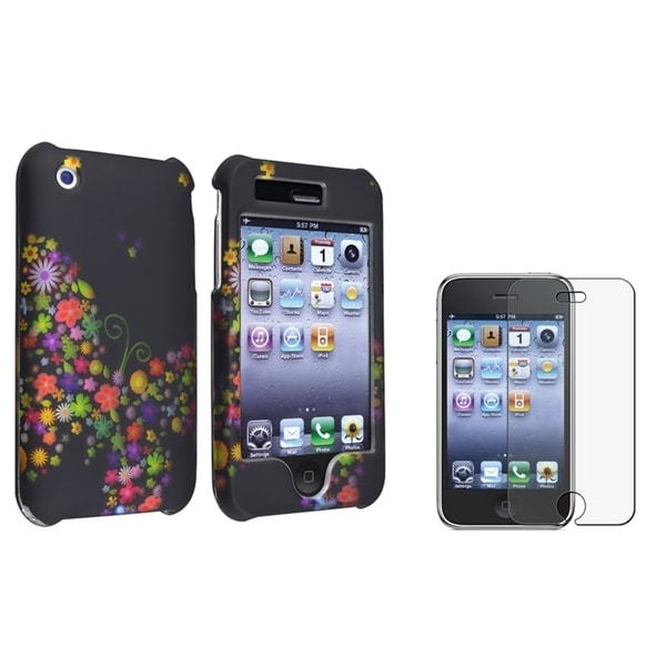 BasAcc Snap-on Case/ Anti-glare LCD Protector for Apple iPhone 3G/ 3GS