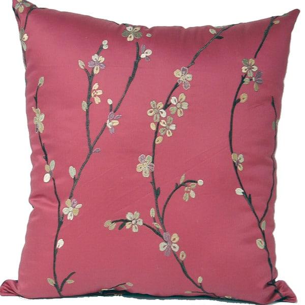 Calico Garnet 17-inch Pillows (Set of 2)
