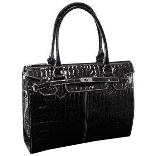 McKlein USA Francesca Faux Croco Leather 16-inch Laptop Tote
