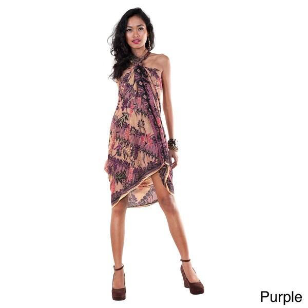 1 World Sarongs Women's Traditional Motif Sarong (Indonesia)