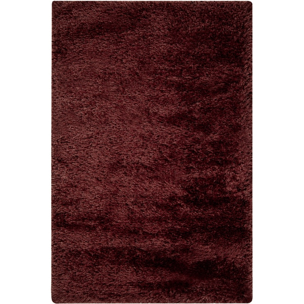 Hand-woven Brick Red Mississauga Shag Rug