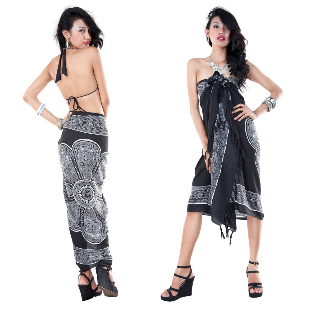 Handmade 1 World Sarongs Womens Lotus Floral Sarong (Indonesia) by  Today Sale Only