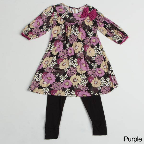 Paulinie Collection Girl's Legging and Tunic Set