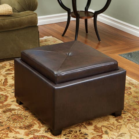 Ottoman Coffee Table Leather.Buy Leather Ottomans Storage Ottomans Online At Overstock Our