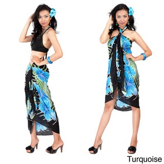 1 World Sarongs Women's Hawaiian Floral Sarong (Indonesia)