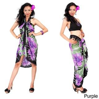 1 World Sarongs Women's Hawaiian Floral Sarong (Indonesia)