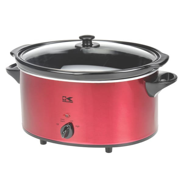 Kalorik 6-quart Red Oval Slow Cooker
