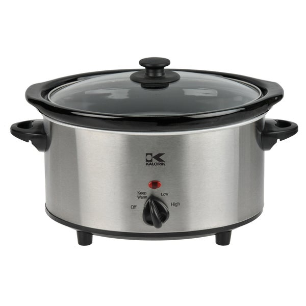 Kalorik Stainless Steel 3.7-quart Oval Slow Cooker