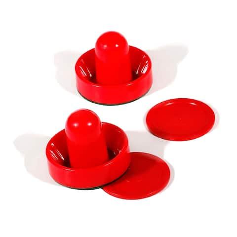 Air Hockey 3-3/4-in Strikers & 2-7/8-in Puck Set - Red