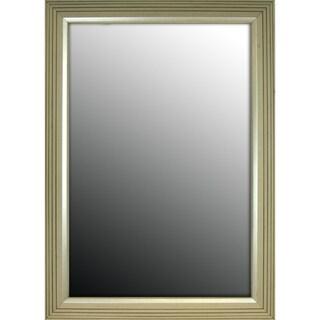 36x46 Stepped Silver Petite Mirror