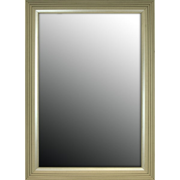27x37 Stepped Silver Petite Mirror