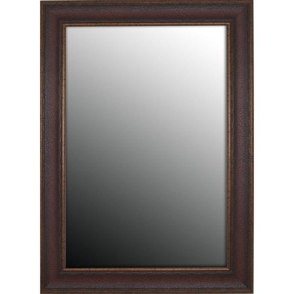 19x37 Copper Embossed Bronze Mirror