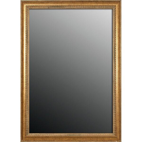 16x34 Grecian Beaded Sun Gold Mirror