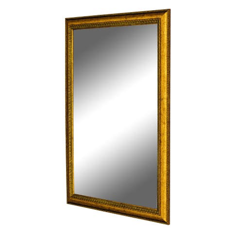 Hitchcock Butterfield Georgian IV Beaded Large Gold Transitional Mirror