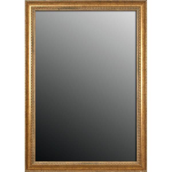 22x58 Grecian Beaded Sun Gold Mirror