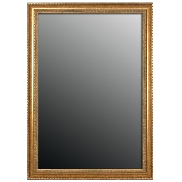 """Hitchcock Butterfield Georgian IV Beaded Large Gold Transitional Mirror - 22.25""""w x 58.25""""h"""