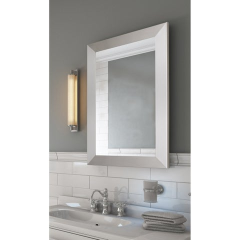 Hitchcock Butterfield Urban Metro II Large Brushed Nickel Silver Modern Mirror