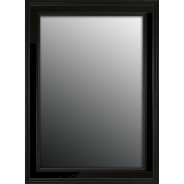 Rich satin black petite 42x30 inch mirror free shipping for Mirror 50 x 30