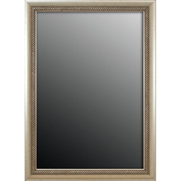 Peruvian Aged Silvertone Trim 17x35-inch Mirror