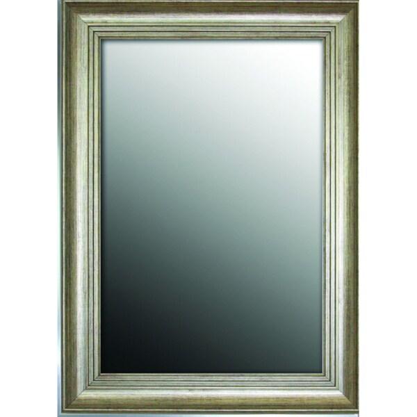 Louis XIV French Silver Gold tone 19 x 37 Mirror