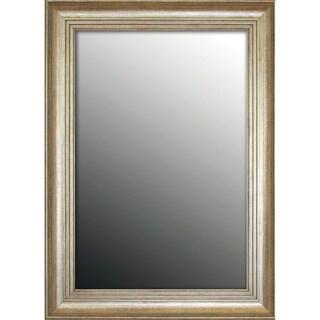 Louis XIV French Silver Gold tone 28 x 38 Mirror