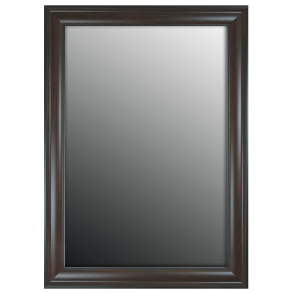 """Hitchcock Butterfield Regal Manor II Large Espresso Traditional Mirror - Brown - 17""""w x 35""""h"""
