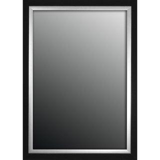 Natural Ebony Black With Silver Trim 29x41-inch Mirror