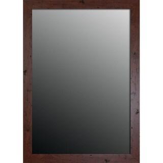 New England Walnut Finish 25x35-inch Mirror
