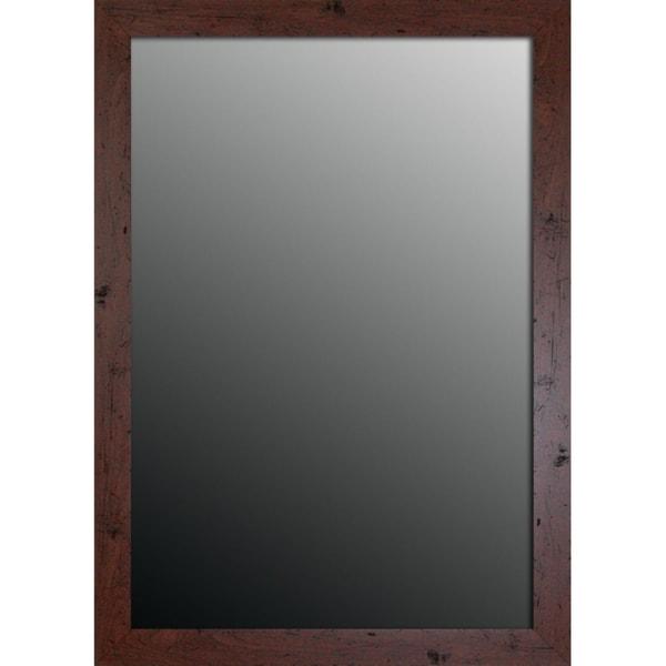 New England Walnut Finish 28x40-inch Mirror