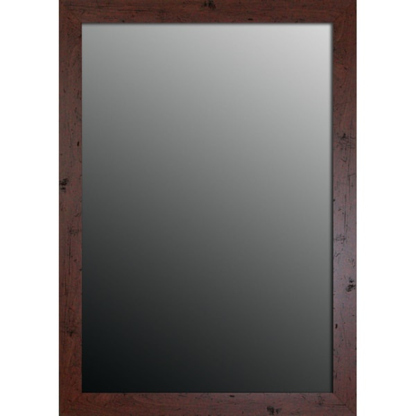 New England Walnut Finish 34x44-inch Mirror