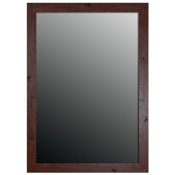 "Hitchcock Butterfield Aidan Classic Large Walnut Brown Traditional Mirror - 27.75""w x 63.75""h"