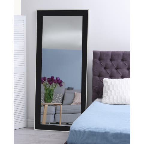 Hitchcock Butterfield Xavier Large Black and Silver Transitional Mirror