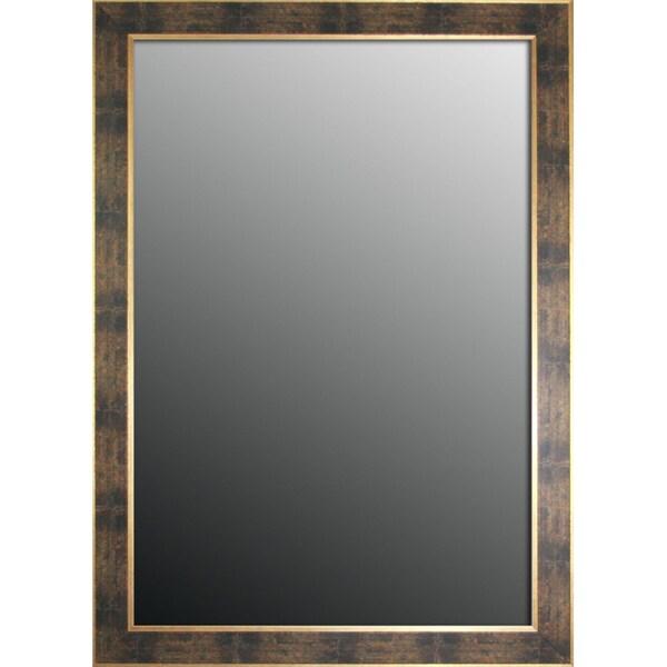 Bavarian Green with Gold Trim 16 x 34 Mirror