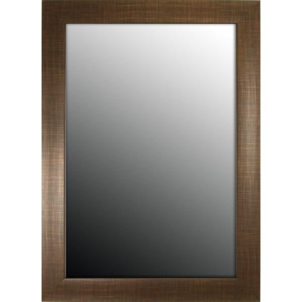 Scottish Plaid Copper Bronze 18 x 36 Mirror