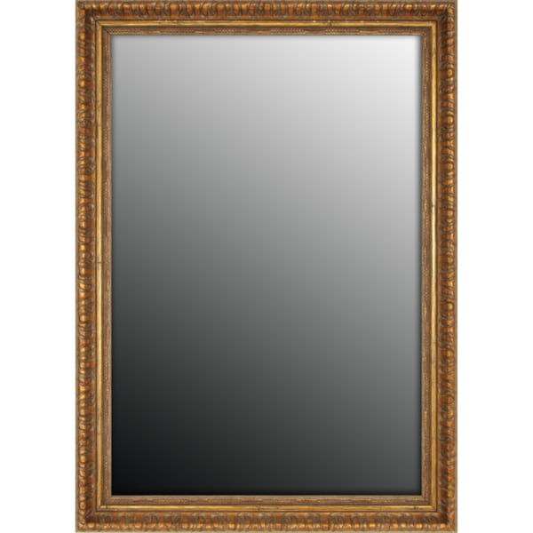 Classic Copper Scroll Gold Accent Mirror (25x35)