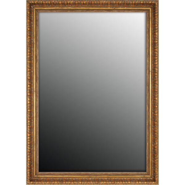 Classic Copper Scroll Gold Accent Mirror (34x44)