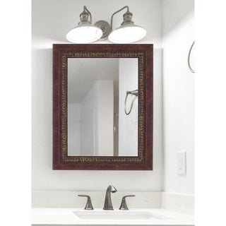 Hitchcock Butterfield Williamsburg Large Cherry Traditional Mirror - Red