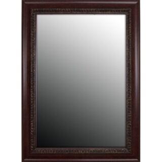 Birds Eye Cherry Gold Accents Mirror (37x47)