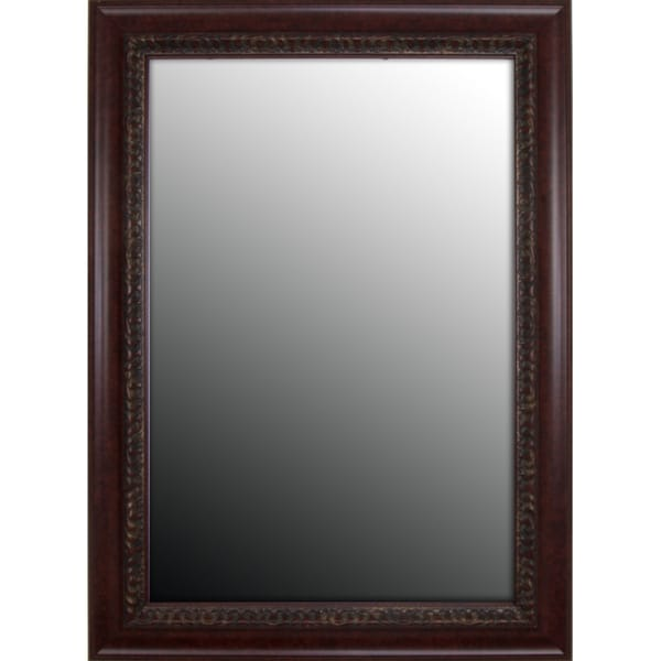 Birds Eye Cherry Gold Accents Mirror (37x47)